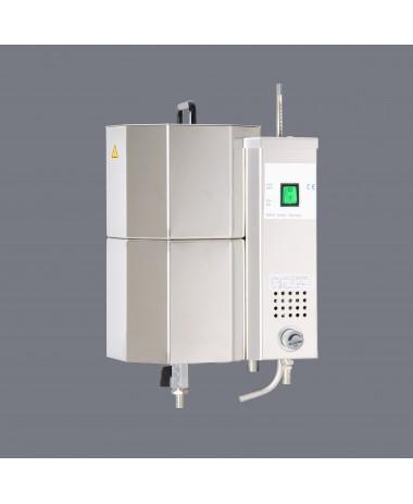 Rankinis vandens distiliavimo įrenginys be surinkimo talpos ir rankinio aušinimo valdymo