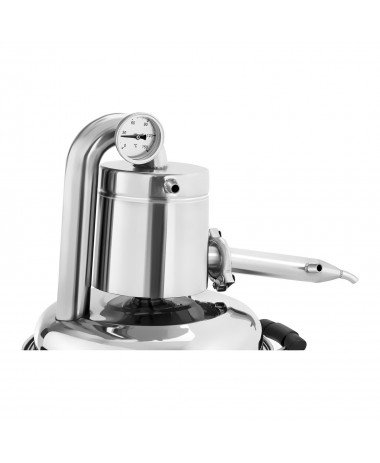 Metalinis vandens distiliatorius 10L vidinė dalis iš nerūdijančio plieno.