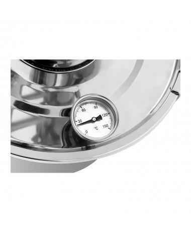 Metalinis vandens distiliatorius 30L vidinė dalis iš nerūdijančio plieno.