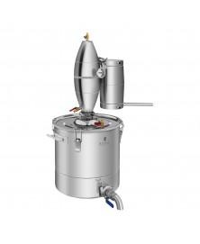 Metalinis vandens distiliatorius 30L, 4 pakopų aušinimas