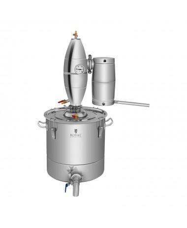 Metalinis vandens distiliatorius 30L, vidinė dalis iš nerūdijančio plieno