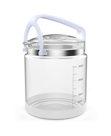 4 litrų stiklinis vandens surinkimo indas distiliatoriui